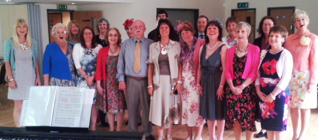 Choir at a wedding, May 2015